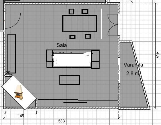 Sala quadrada com lareira como dispor a mob lia f rum for Decorar casa 30m2