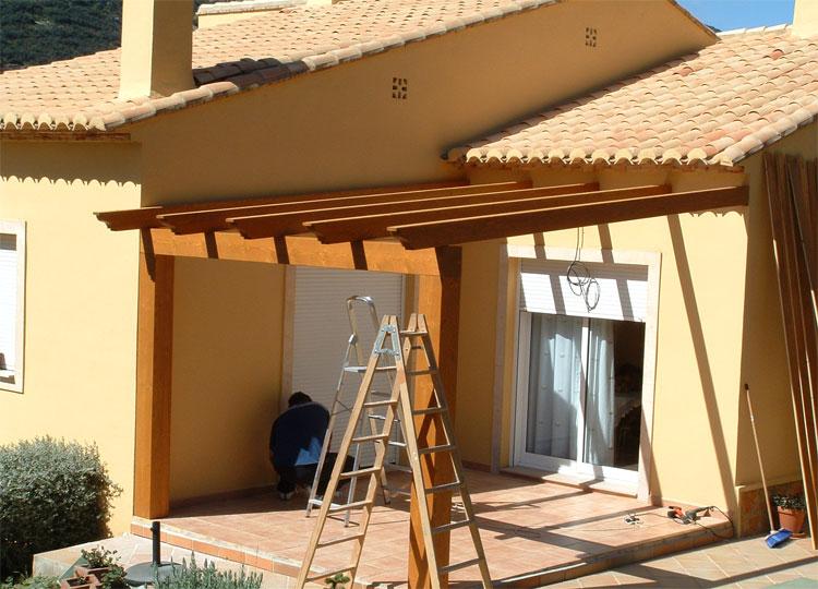 Montagem de telheiro em madeira f rum da casa - Madera tratada para exterior ...