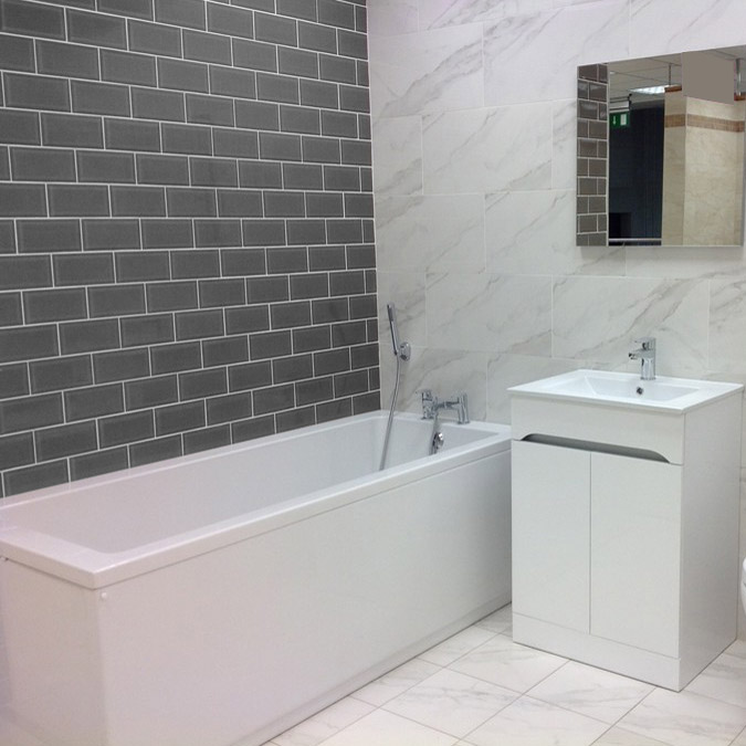 Fantastic Little Round Tiles Give Walls More Detail And Dynamic Brick Or Rectangular  The Rest Comes In Neutral White And Grey And Even Though Every Tile Design Has Its Own Shape, There Is Harmony In The Picture Still Modern Bathroom Tile